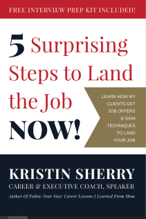 Cover Final - 5 Surprising Steps to Land the Job NOW